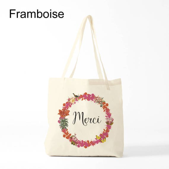 Merci Tote bag, redish version, Cotton bag, sports bag, yoga bag, baby bag, groceries bag, novelty gift, canvas bag, gift coworker