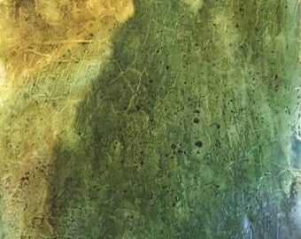 Ravine Mixed Media Painting