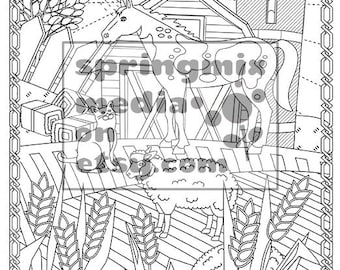 Cat Coloring Page Minkas Journey Animal And Nature Pages To Color Farm Animals