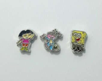 1x Nickelodeon Cartoon Floating Memory Locket Scrapbook Charm