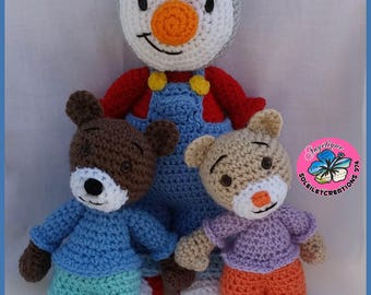 You Charlie and blanket-inspired cartoon character - tutorial CROCHET PATTERN