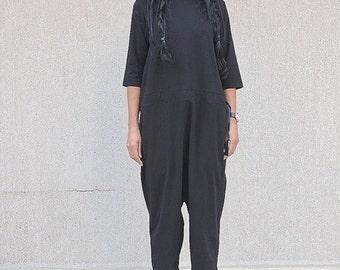 Slouchy jumpsuit, jumpsuits woman, minimalist overall, plus size jumpsuit, women jumper, boho jumpsuit, plus size, long sleeve jumpsuit