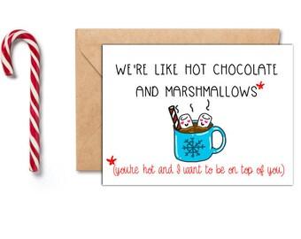 Funny Christmas Card For Him, Boyfriend Christmas Card, Naughty Christmas Card, Sexy Christmas Card