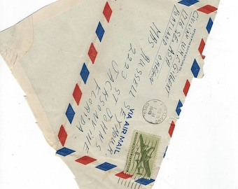 opened  ymca 1944 1945 1946 vintage envelopes with stamps