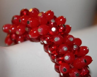 Red beaded Jewelry, Red beaded Bracelet, Red pearl Bracelet, Red pearl Jewelry, Red Jewelry, Red Bracelet, Bracelet Red beads, red beas, red