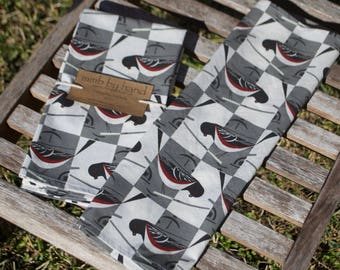 Organic Charley Harper Spotted Towhee Cloth Napkins - Set of 4