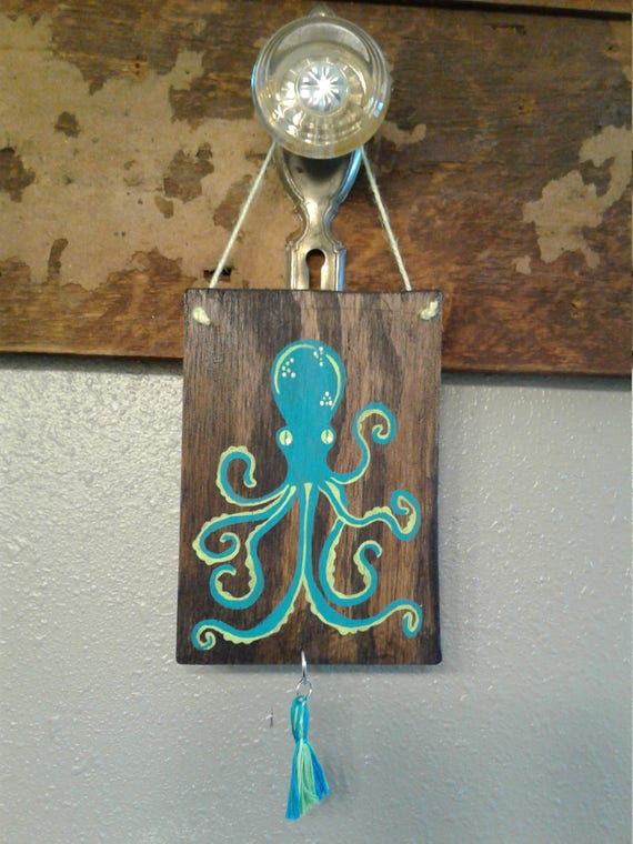Octopus Art~Hand Painted Wood Signs