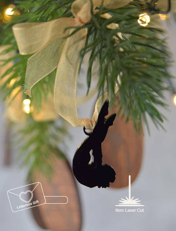Aerial Silk Laser Cut Christmas Tree Ornament