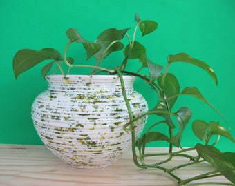 Large Pottery Vase, 80s Home Decor, Large Ceramic Vase, 1980s Pottery