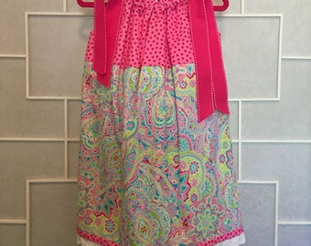 Size 4/5 Pretty in Pink Pillowcase Dress