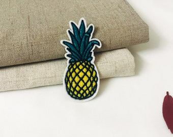 pineapple patch -iron on patch -fruit patch -embroidered patch -patch for jacket -DIY