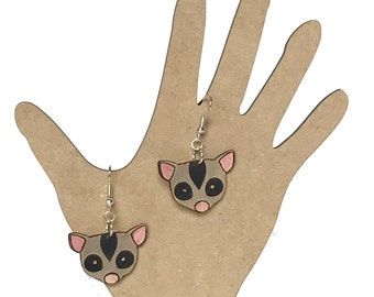 Sugar Glider Earrings (wood)