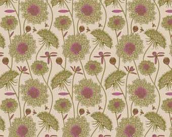 Anna Maria Horner Fabric, Sweet Dreams, LACEY in MOSS, Shabby Chic Fabric, Floral Fabric, Cotton Fabric, Quilt, Quilting, Fabric By the Yard