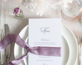 Printed Formal Wedding Menu - DL