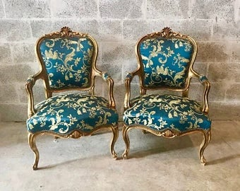 Antique chairs Etsy