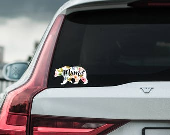 Mama Bear Decal, New mom gift, Baby Shower Gift, Mom Gift, Gift for Mom, Car Accessories, Car Decals for Women, Cute Car Decals, Car Sticker