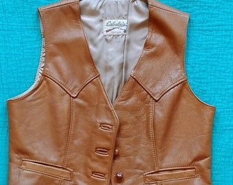 Vintage Leather Vest - Very Clean and Cool!