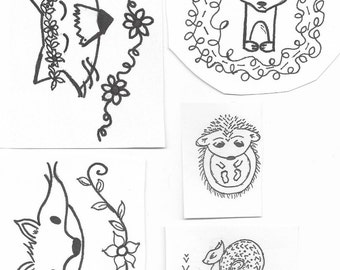 Woodland Five Embroidery Pattern