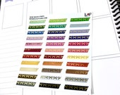 Bow Washi Strips FOIL | Rainbow Multicolor | Matte Glossy Planner Stickers