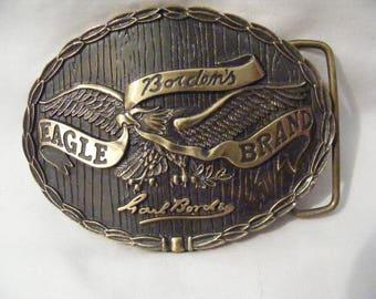 Vintage Bordens Eagle Brand Belt Buckle