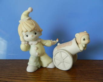 """Precious Moments Clown With Cannon """"Dusty"""" (C)"""