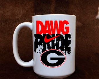 Georgia bulldog mug, Dawg Pride, Football fan, Georgia mug, gift item, coffee mug, gift for her, teacher gift