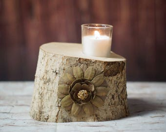 Wood Candle Holder, Rustic Home Decor, Woodland Fairy, Reclaimed Wood, Log Tealight holder, Rustic Tealight Holder, Wedding Centerpiece,GFT