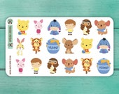18 Winnie The Pooh Stickers / Planner Stickers / Decorative Stickers