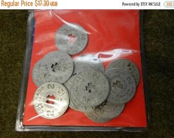 Summer Sale 12 Vintage WW2 era Colorado Retail Tokens Sales Tax Coins