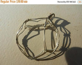 Summer Sale Vintage Sterling Silver Wire Coin Pendant Wrap
