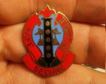 Easter Sale Vintage US Army 6th Ordnance Battalion Unit Crest Insignia