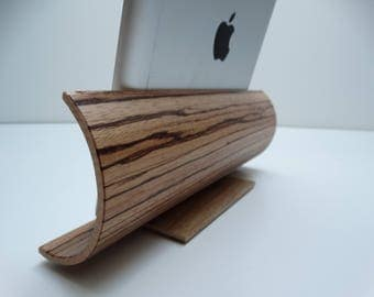 Gift ipad, Stand tablet, tablet gift idea, tablet satnd in oak, crved plywood stand tablet