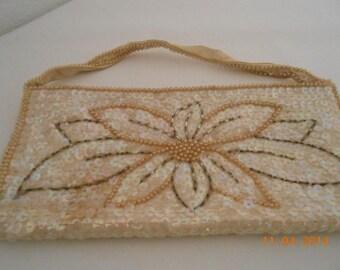 Vintage Hand Bag Sequined Evening Bag La Regale Hand Made Vintage Japan  Beaded  Clutch, Designer