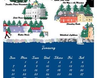 2018 New Hampshire Wall Calendar