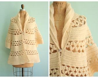 Vintage 1960's Knit Swing Cut Sweater | Size OSFM