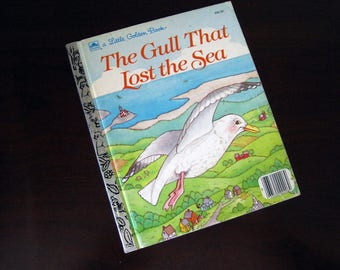 The Gull That Lost The Sea - Vintage Children's Little Golden Book – 206-55
