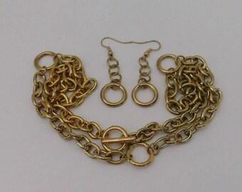 Chain & Links Earrings Necklace