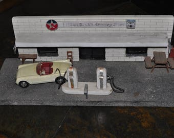 HandMade Model Old Town Gas Station