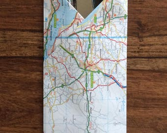 Map cutlery holder, map cutlery pocket, map cutlery pouch.