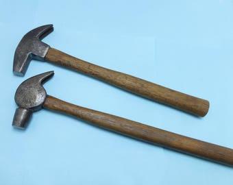 Vintage hammer lot-blacksmith farrier tools
