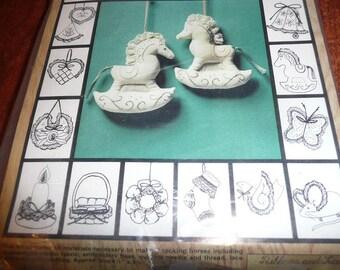 Vintage Newstalgia Designs Rocking Horses , Stockings Kit