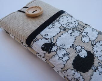 Sheep iPhone 7 Case, Fabric Pouch iphone, iPhone 6s cover, iPhone 7  Pouch, iPhone SE sleeve, iPod 6G Sleeve, iPhone 7 Plus sleeve, iPhone 5