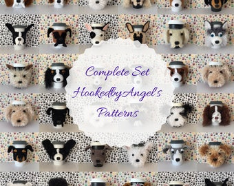 Dog Crochet Pattern Crochet Dog Pattern Amigurumi Dog Pattern Crochet Pattern Dog Gift for Crocheter Mug Cozy Pattern Pattern Bundle