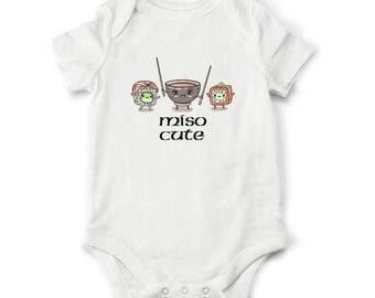 20% Baby gift - Miso Cute baby bodysuit, Sushi baby bodysuit, Funny baby shower gift