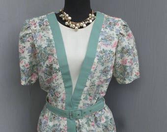 1980s Dress, Breli Original, Two Piece Look, career, School, Academia, Secretary, Size 10