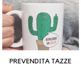 Mugs-Good morning illustration a cactus