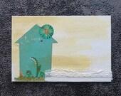 """Carte artistique """"c'est une maison love"""""""
