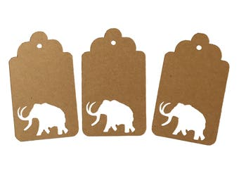 Woolly Mammoth Gift Tags