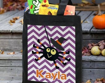 Personalized Trick or Treat Treat-Personalized Halloween Tote