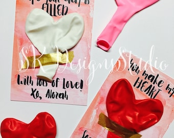 Heart Balloon Valentines